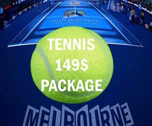 Get our tennis package at $ 149, contains all tournaments to the end …