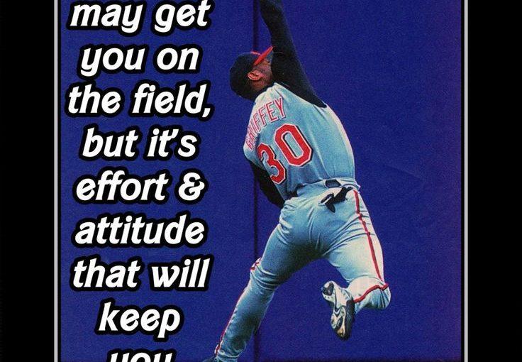 """กระเป๋าสตางค์กระเป๋าใส่เบสบอล Ken Griffey Jr ภาพถ่ายอ้างอิง Wall Art 5×7 """"- 11×14"""" เรื่อง …"""