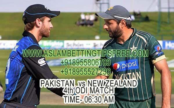รับปากีสถานกับนิวซีแลนด์ 4. ODI Match Prediction และฟรีคริกเก็ตเดิมพัน t …