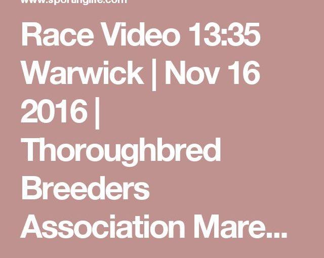 วิดีโอการแข่งขัน 13:35 Warwick | 16 พฤศจิกายน 2016 | ผู้ปลูกผู้ใหญ่