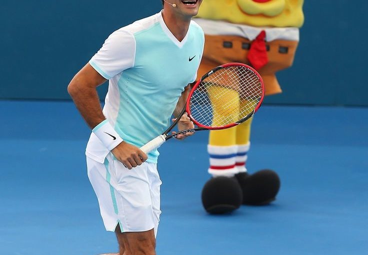 หนึ่งเดียวเท่านั้น Roger Federer ในวันเด็กที่บริสเบน