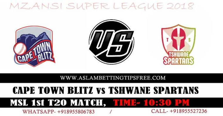 Cape Town Blitz vs Tshwane Spartan เคล็ดลับการเดิมพันคริกเก็ต T20 อันดับแรก
