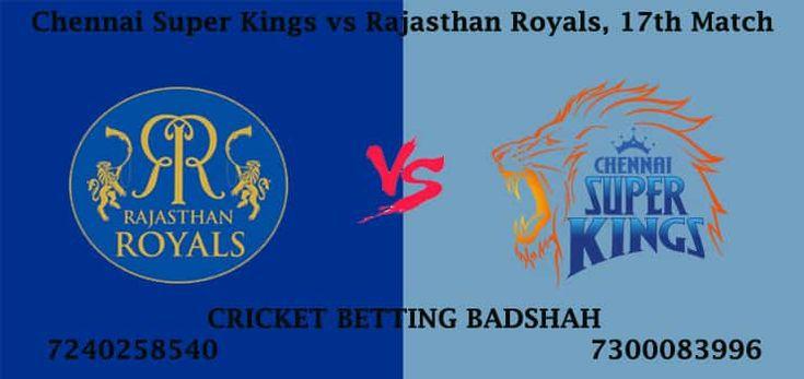 รับ Chennai Super Kings vs Rajasthan Royals 17. เคล็ดลับการเดิมพันคริกเก็ต IPL ถึง …