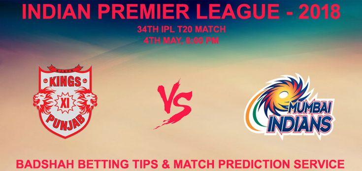 รับ Kings XI Punjab vs Mumbai Indian 34. การเดิมพัน IPL จับคู่ทำนายคริกเก็ต …